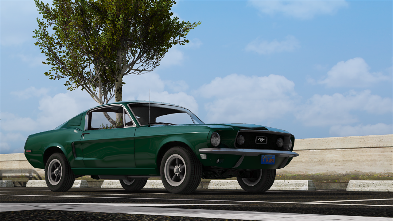 1968 ford mustang fastback add on replace gta5. Black Bedroom Furniture Sets. Home Design Ideas