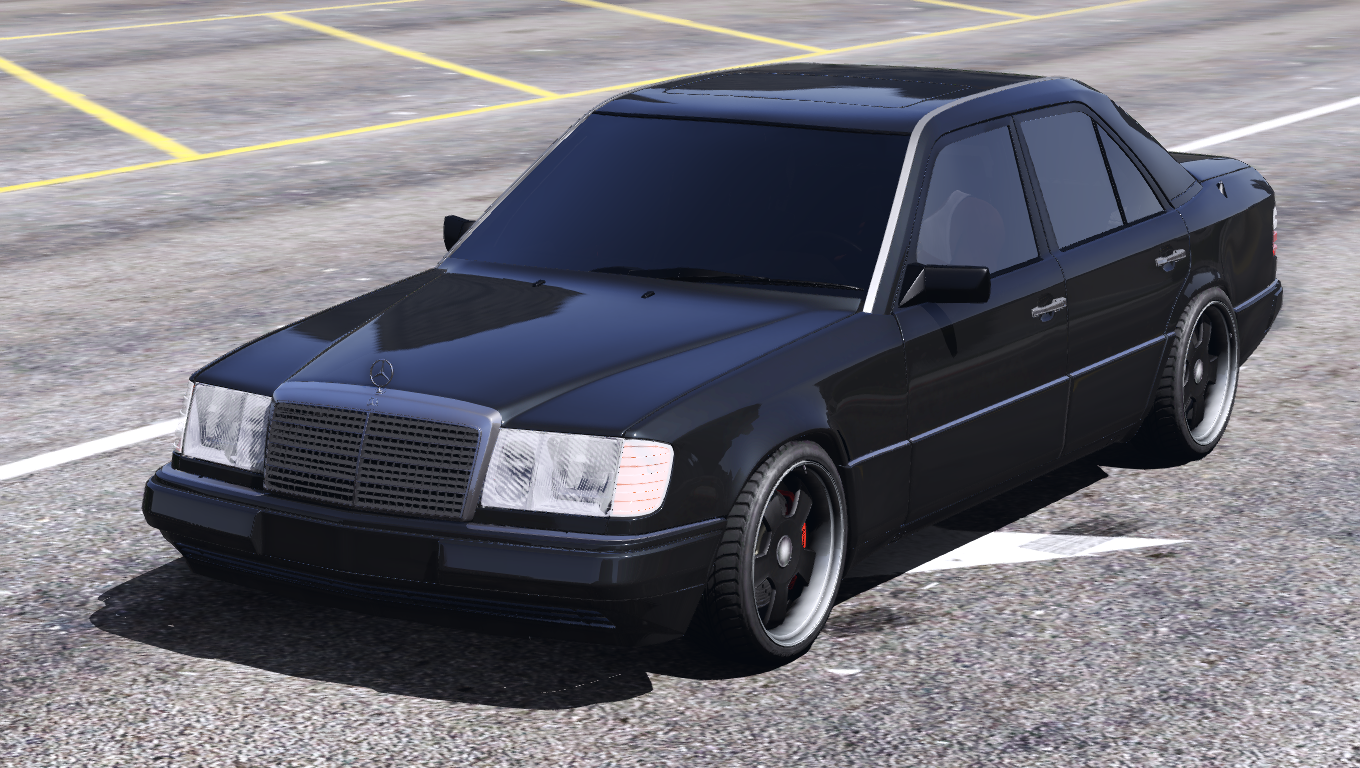 1993 mercedes benz w124 add on hq gta5. Black Bedroom Furniture Sets. Home Design Ideas
