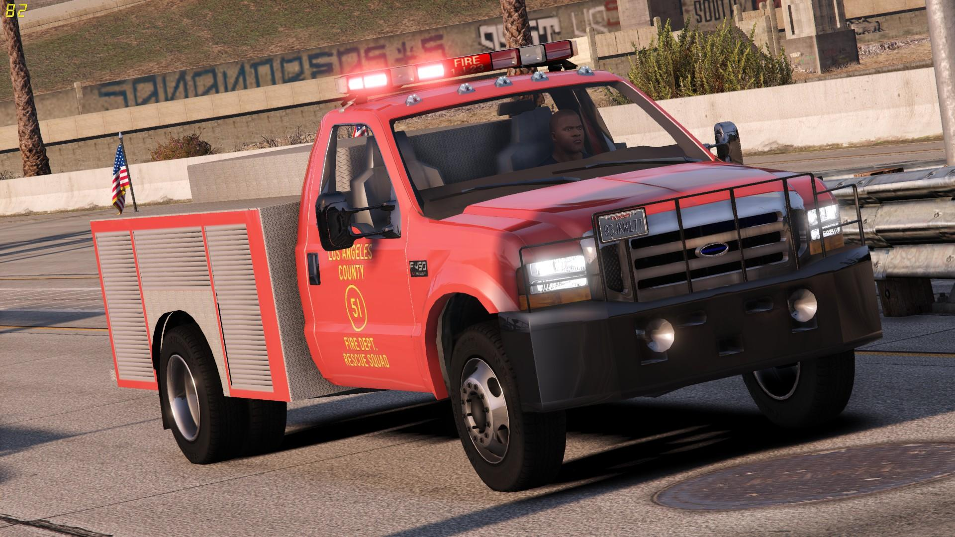 1999 ford f450 squad 51 inspired gta5. Black Bedroom Furniture Sets. Home Design Ideas