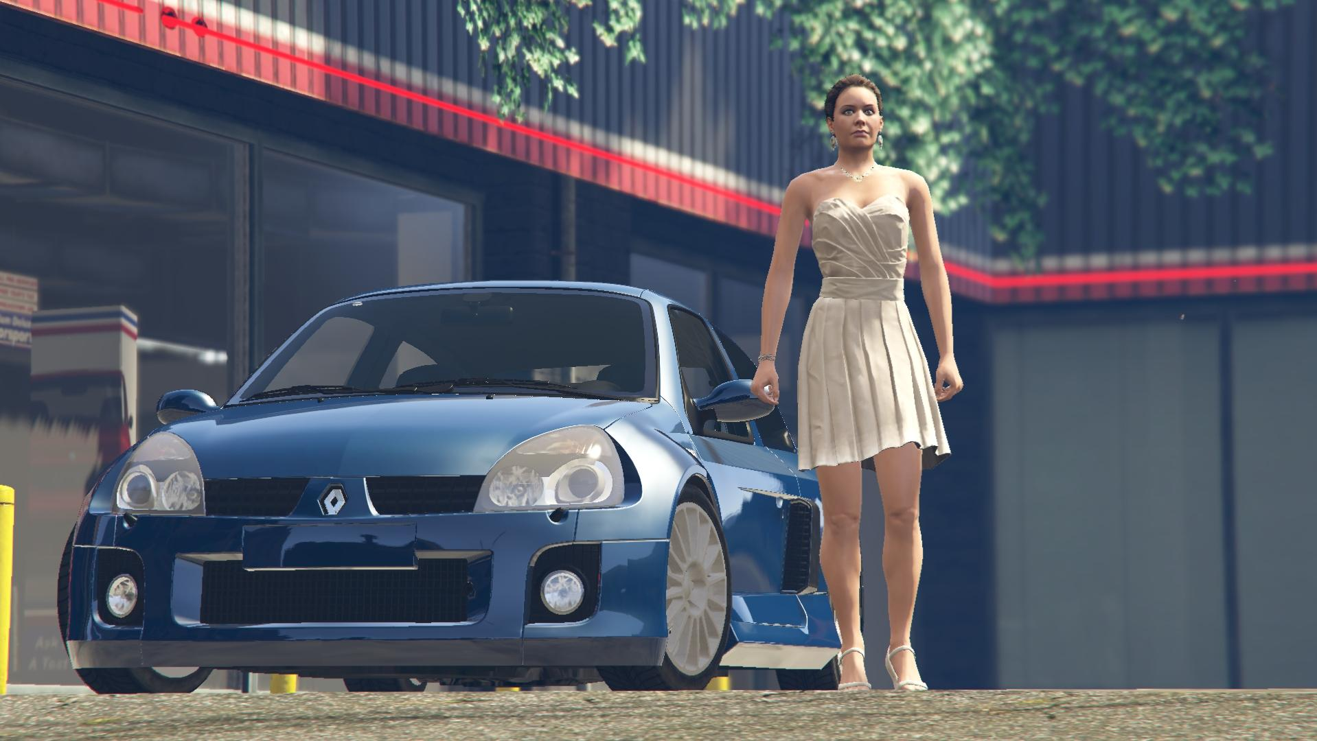 2003 renault clio v6 phase 2 add on tuning gta5. Black Bedroom Furniture Sets. Home Design Ideas