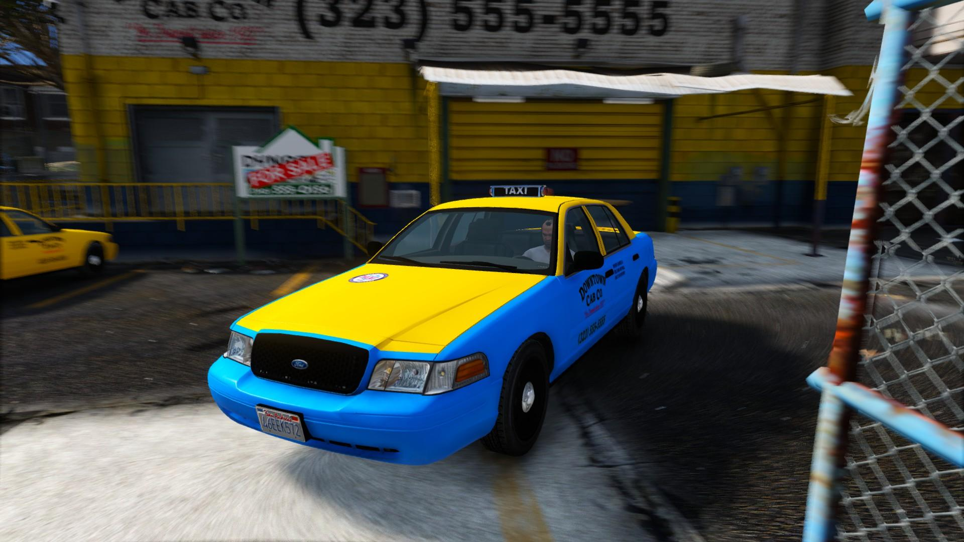 2008 Ford Crown Victoria Taxi Replace Gta5 Mods Com