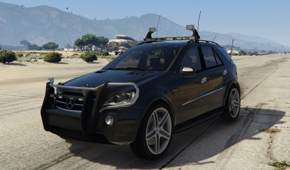 2009 mercedes benz ml63 amg fbi unlocked gta5. Black Bedroom Furniture Sets. Home Design Ideas