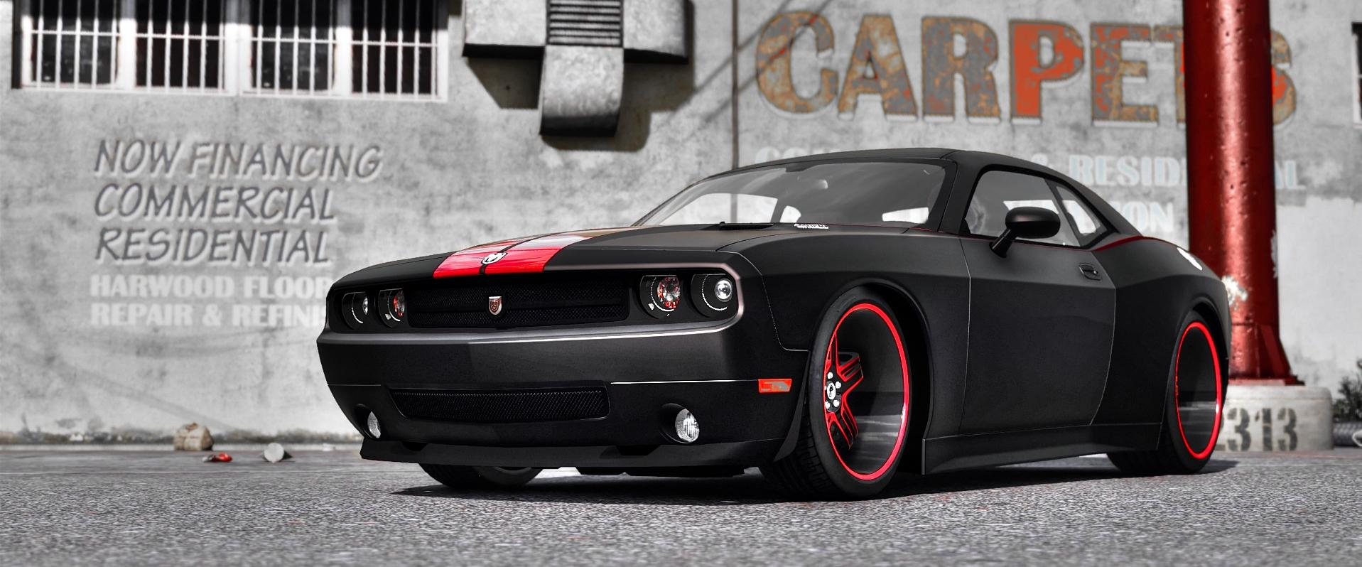 2010 dodge challenger srt8 rampage edition add on. Black Bedroom Furniture Sets. Home Design Ideas