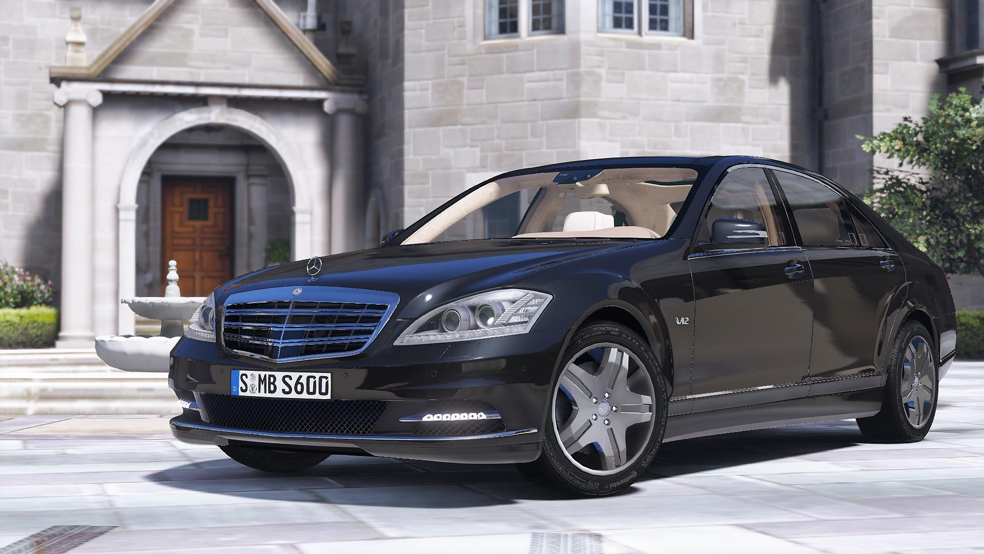 2010 mercedes benz s600 l w221 add on tuning gta5 for S600 mercedes benz