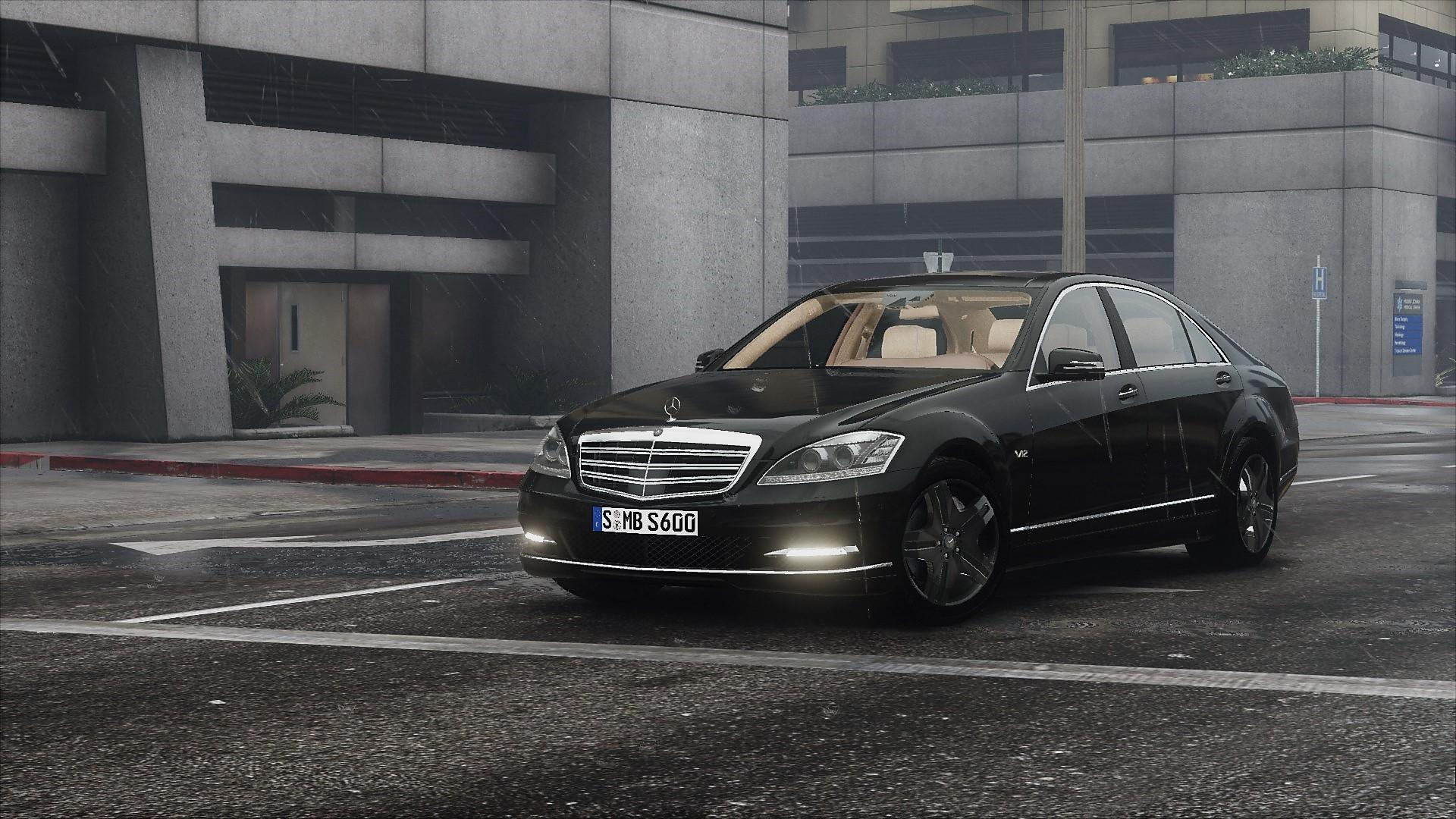 2010 mercedes benz s600 l w221 add on tuning gta5 for Mercedes benz 600 amg