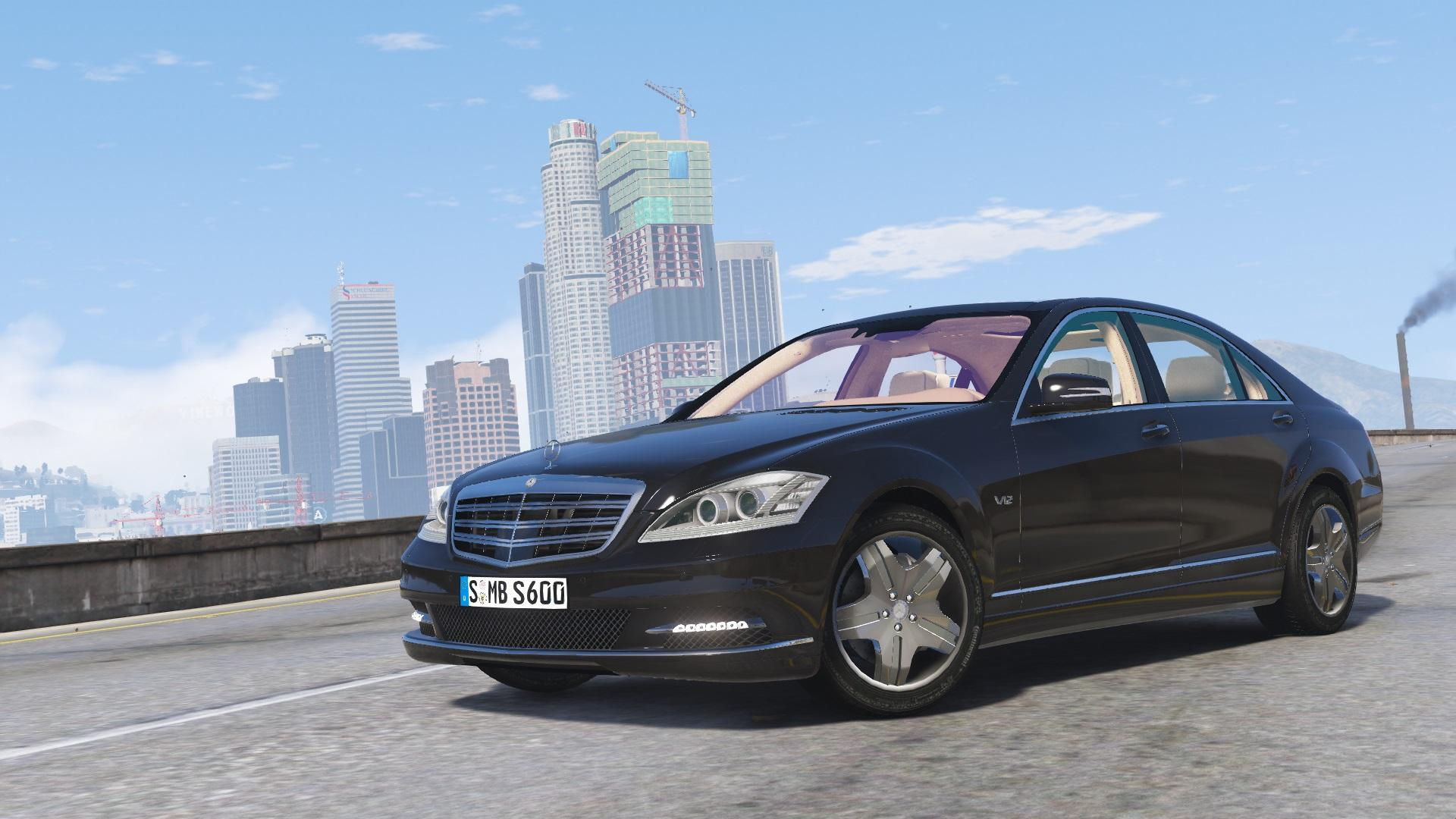 2010 mercedes benz s600 l add on tuning gta5 for Mercedes benz mods