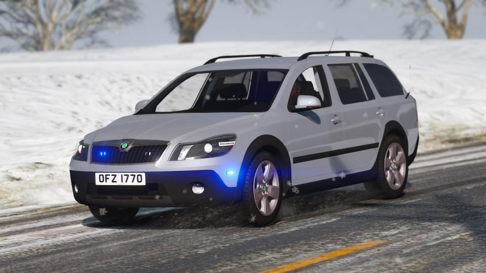 2010 psni skoda octavia scout irv els gta5. Black Bedroom Furniture Sets. Home Design Ideas