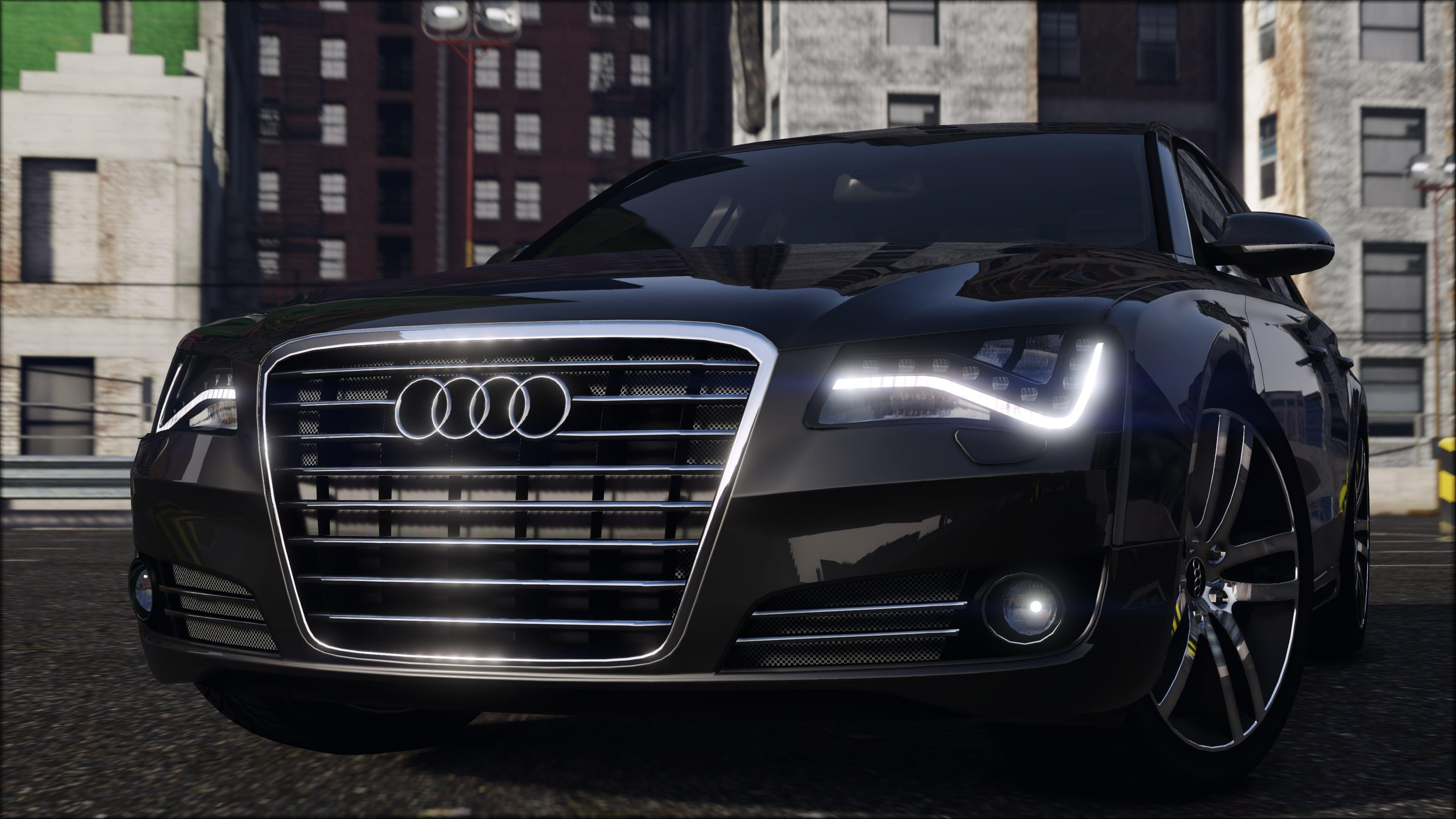 2012 audi a8l w12 add on replace gta5. Black Bedroom Furniture Sets. Home Design Ideas