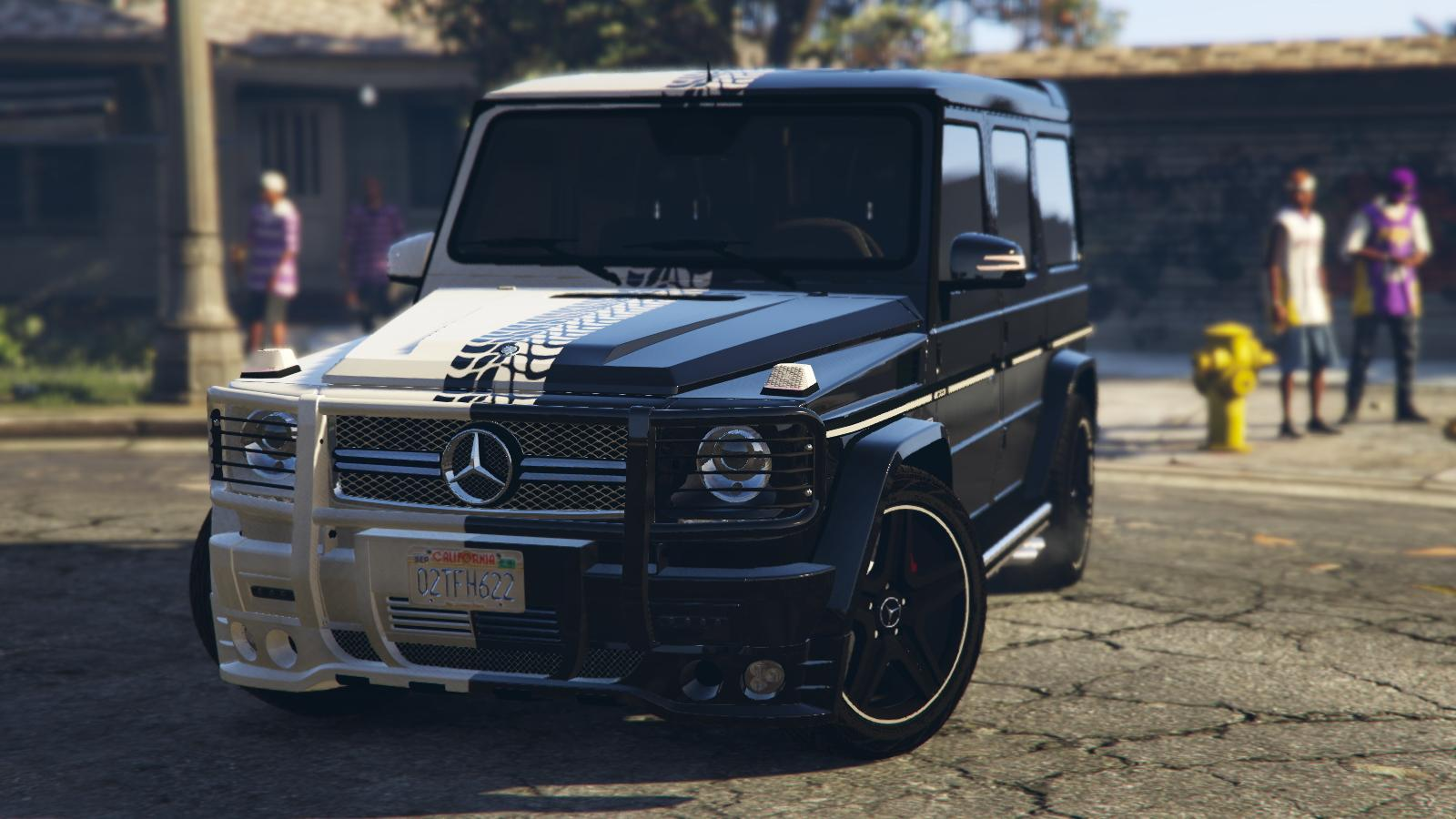 2013 mercedes benz g65 black white paintjob gta5 for Mercedes benz g65