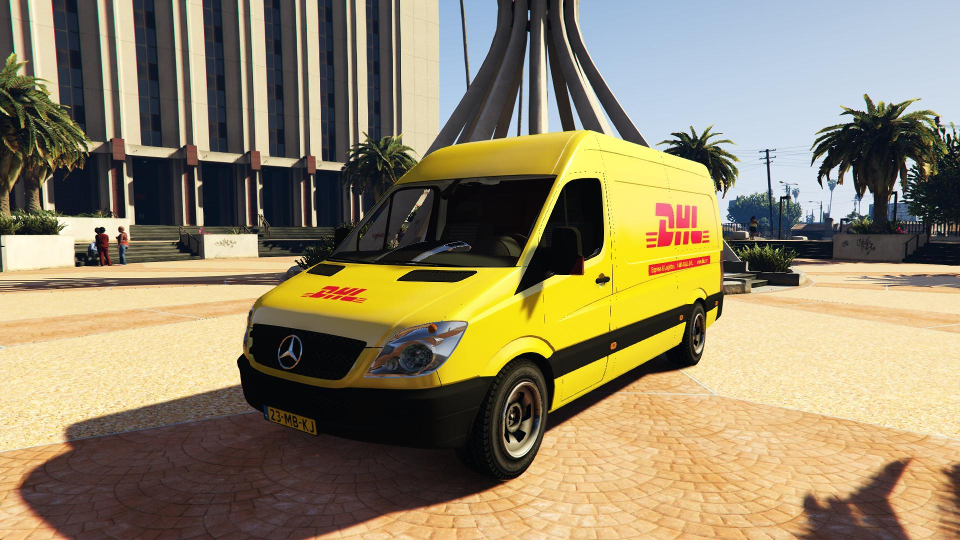 2013 cargo mercedes benz sprinter dhl gta5. Black Bedroom Furniture Sets. Home Design Ideas
