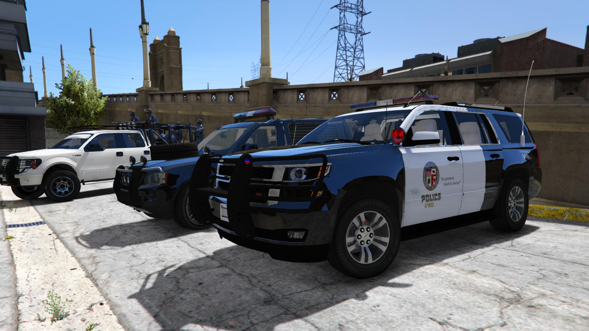 2015 Chevrolet Tahoe Lapd Unlocked Template Gta5