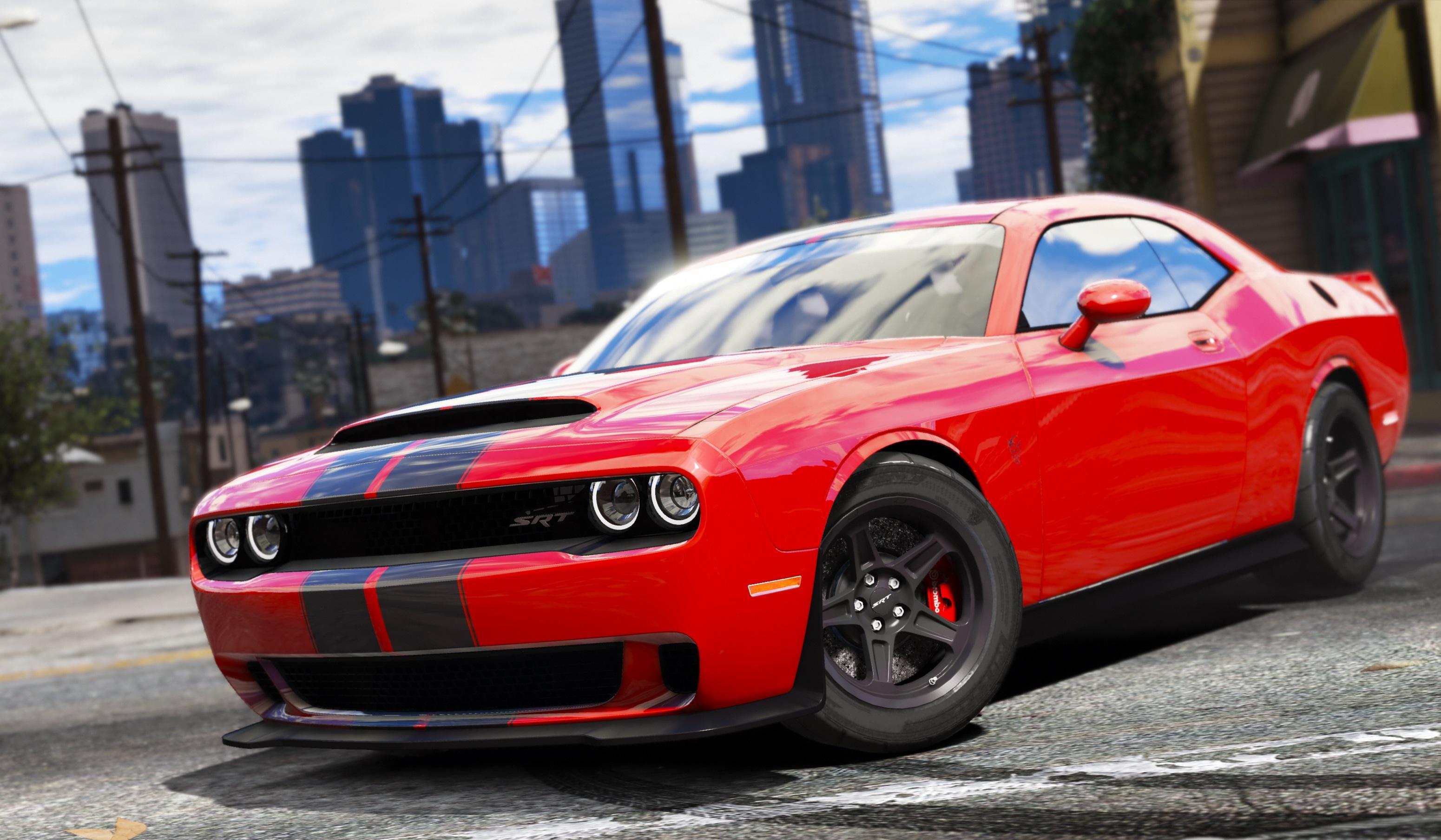 dodge hellcat redeye mods 2015 Dodge Challenger [Stock / Shaker / Hellcat] - GTA5