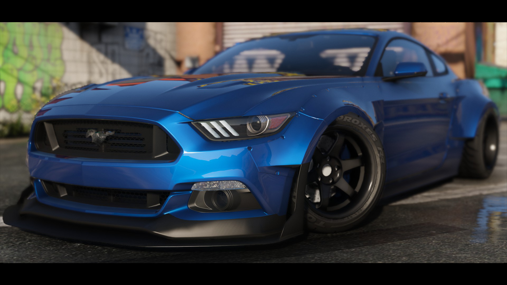2015 ford mustang hq wbody kit shelbykit animated - Mustang modification ...