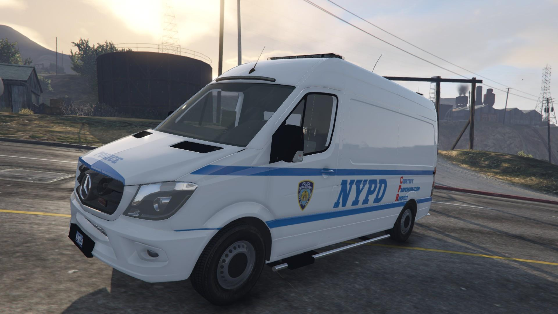2015 mercedes benz sprinter nypd replace locked gta5. Black Bedroom Furniture Sets. Home Design Ideas