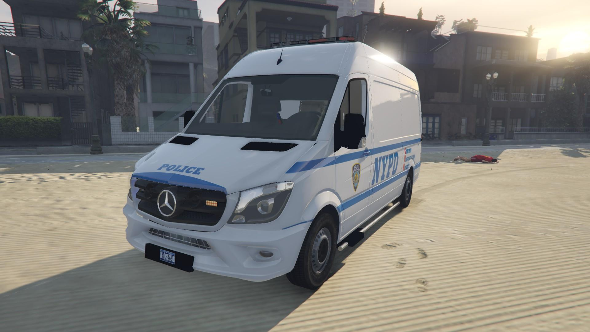 2015 mercedes benz sprinter nypd gta5. Black Bedroom Furniture Sets. Home Design Ideas