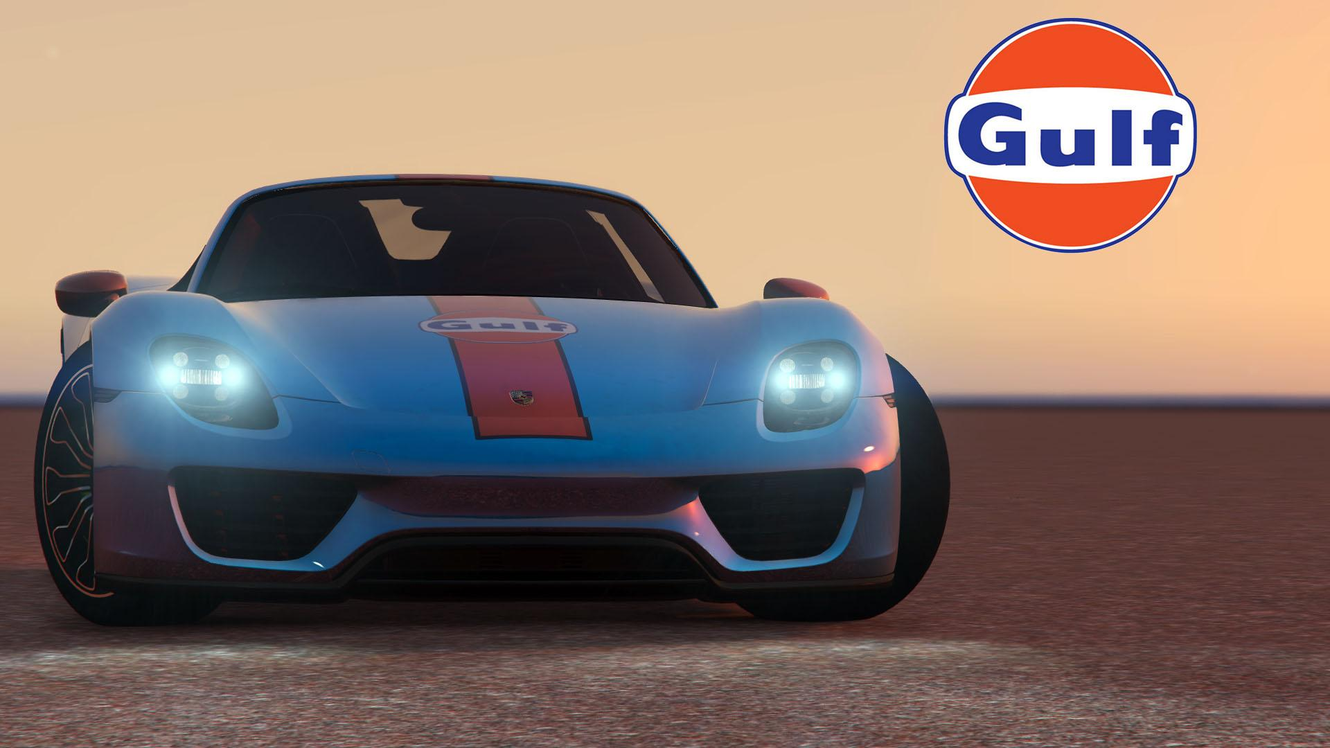 2015 porsche 918 spyder gulf livery gta5. Black Bedroom Furniture Sets. Home Design Ideas