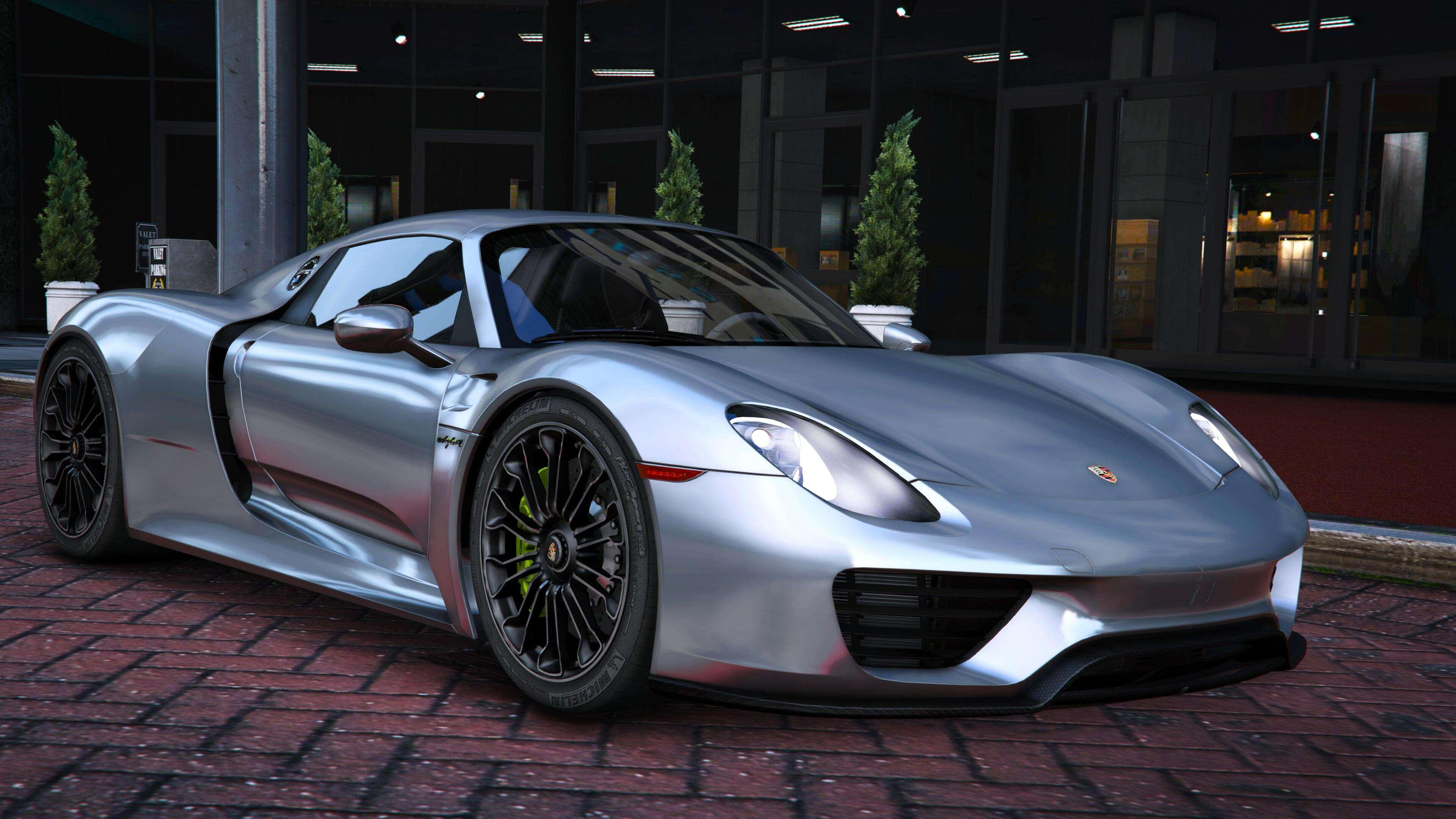 2015 porsche 918 spyder weissach kit add on real spoiler gta5. Black Bedroom Furniture Sets. Home Design Ideas