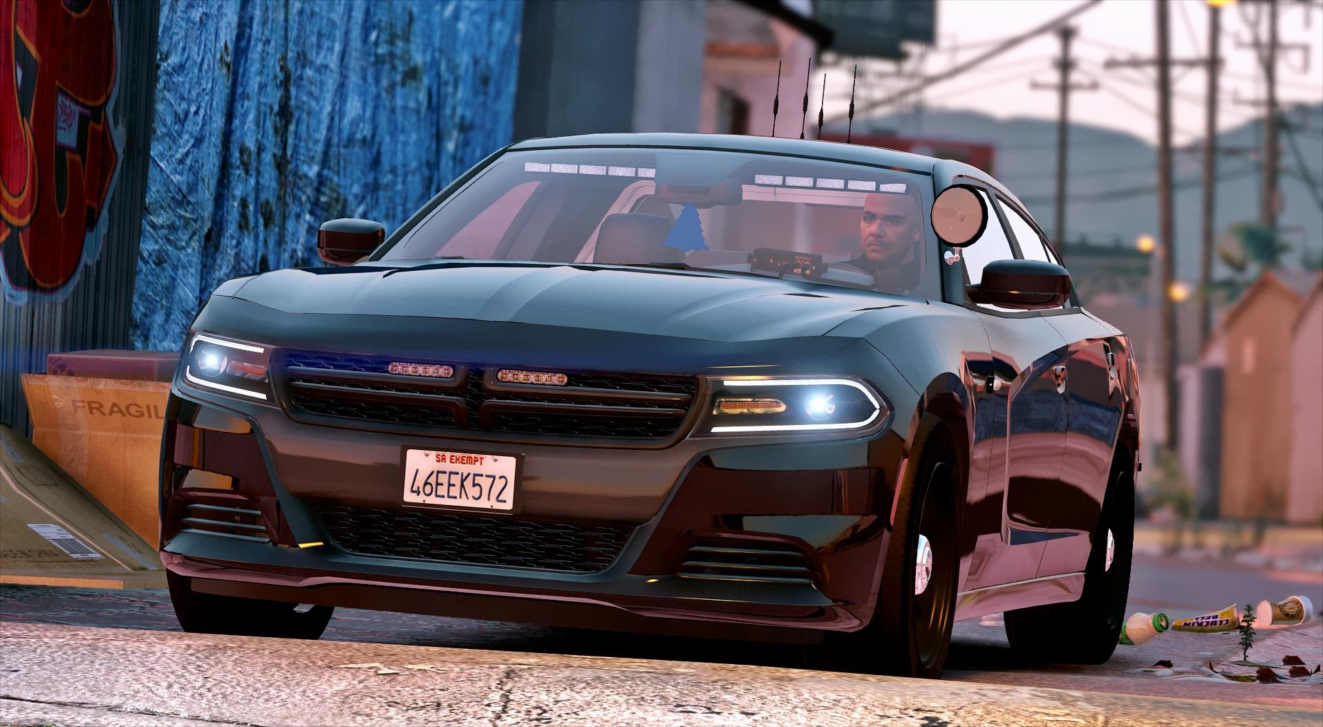 2016 Unmarked Dodge Charger Els Gta5 Mods Com