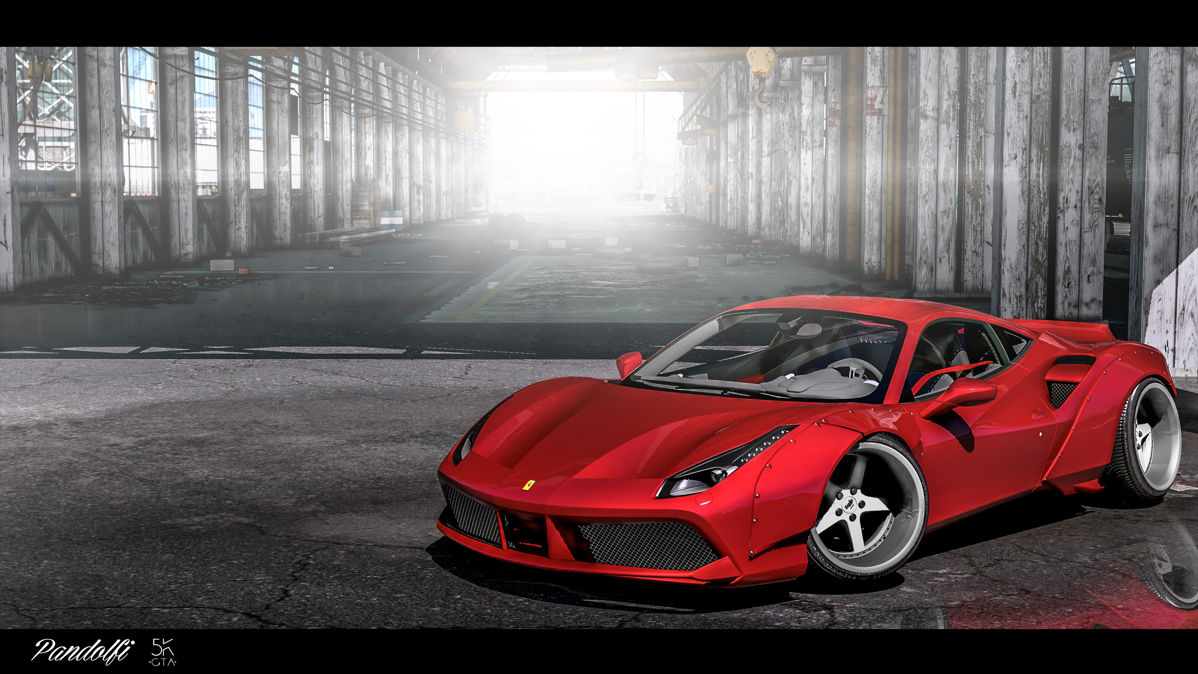 2016 ferrari 488 gtb liberty walk gta5. Black Bedroom Furniture Sets. Home Design Ideas