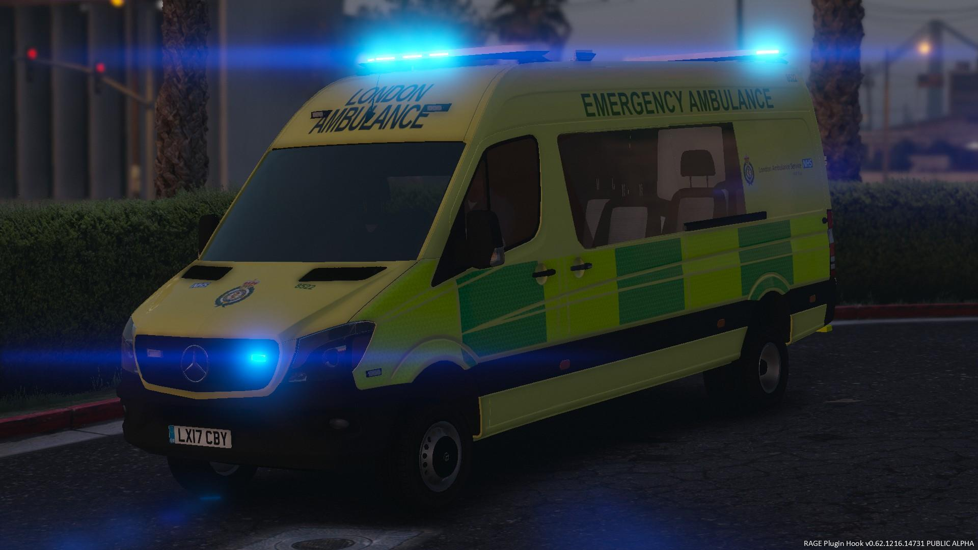 2017 london ambulance service mercedes benz sprinter for Mercedes benz brasil