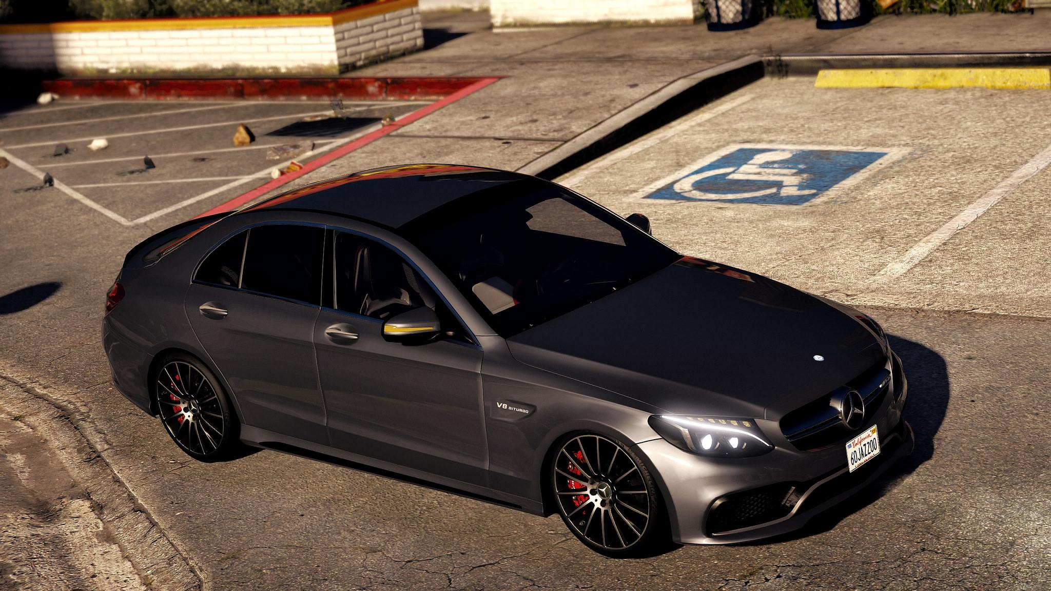 2017 mercedes amg c63 s add on replace gta5 for Mercedes benz amg 6 3