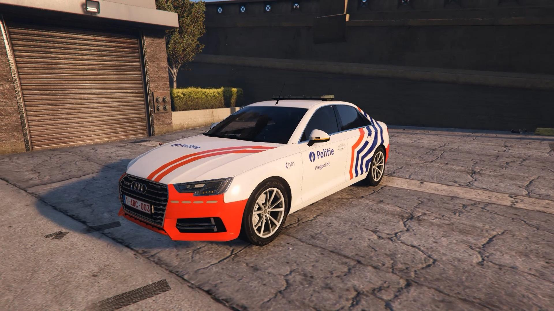 2017 police audi a4 quattro wegpolitie belgium police. Black Bedroom Furniture Sets. Home Design Ideas