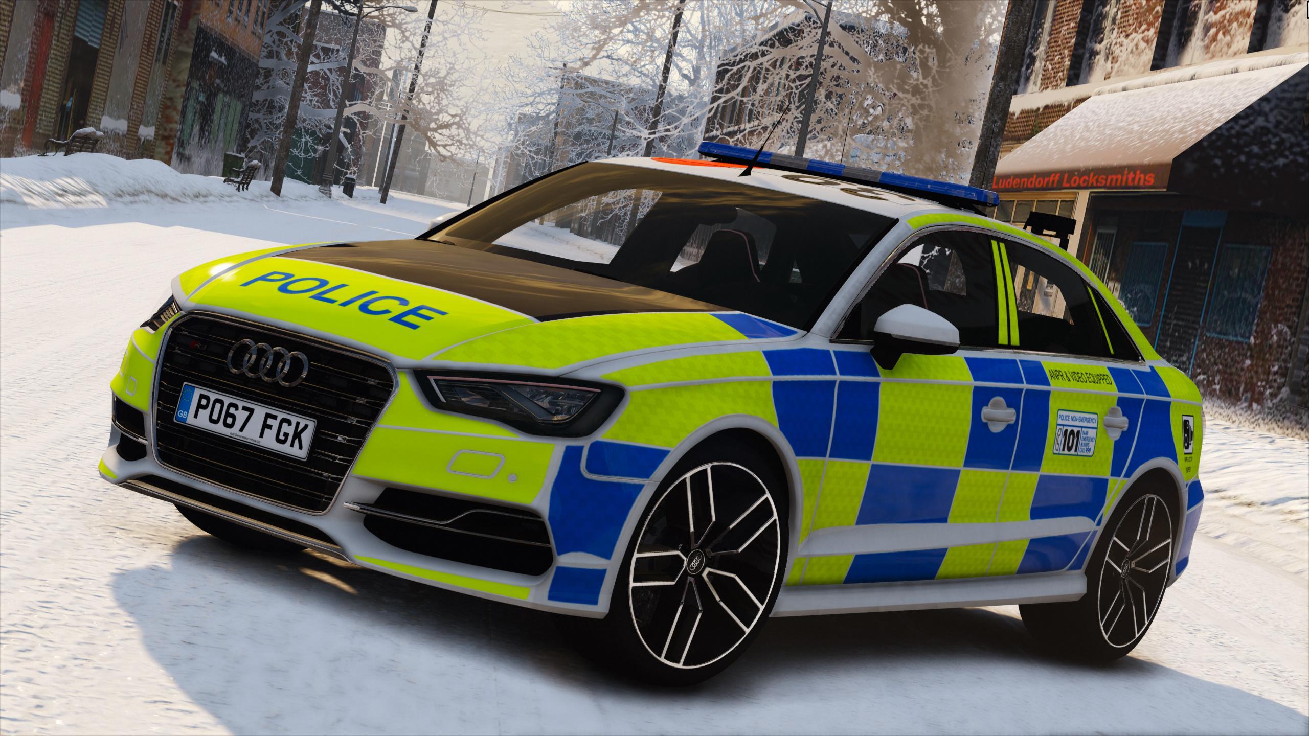 2017 Police Audi S3 Replace Els Gta5 Mods Com