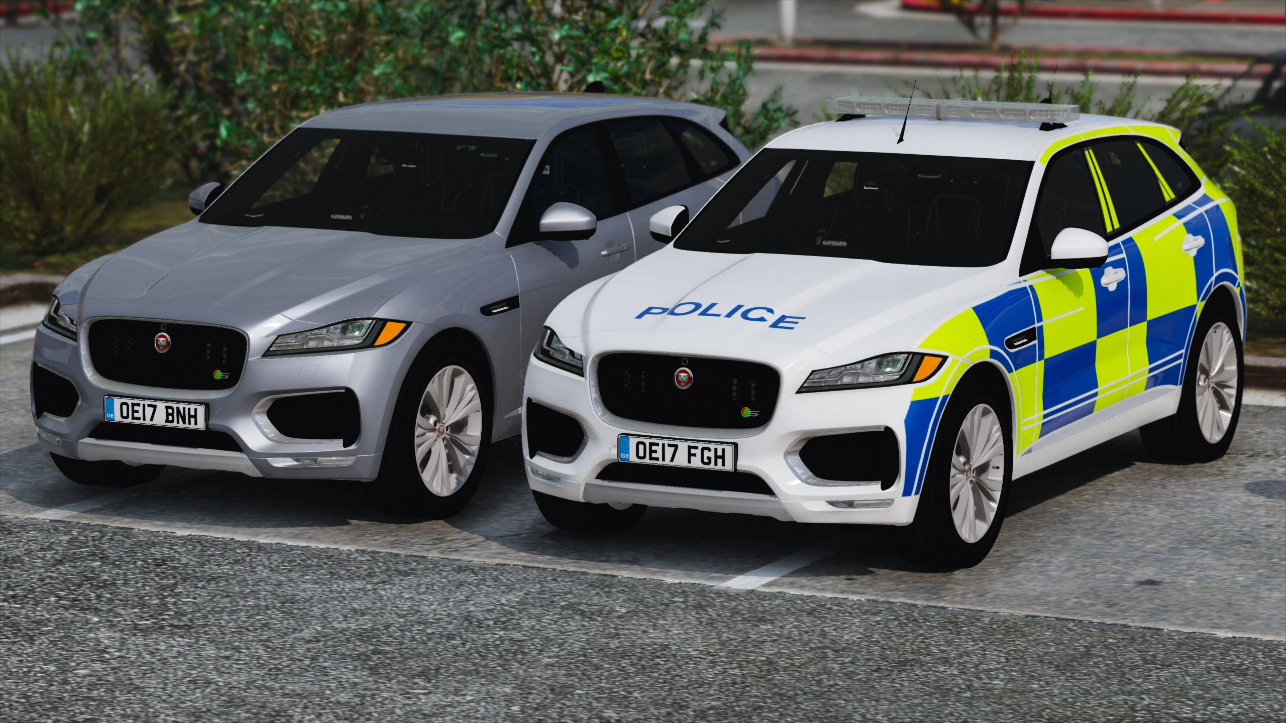 2017 police jaguar f pace els pack gta5. Black Bedroom Furniture Sets. Home Design Ideas