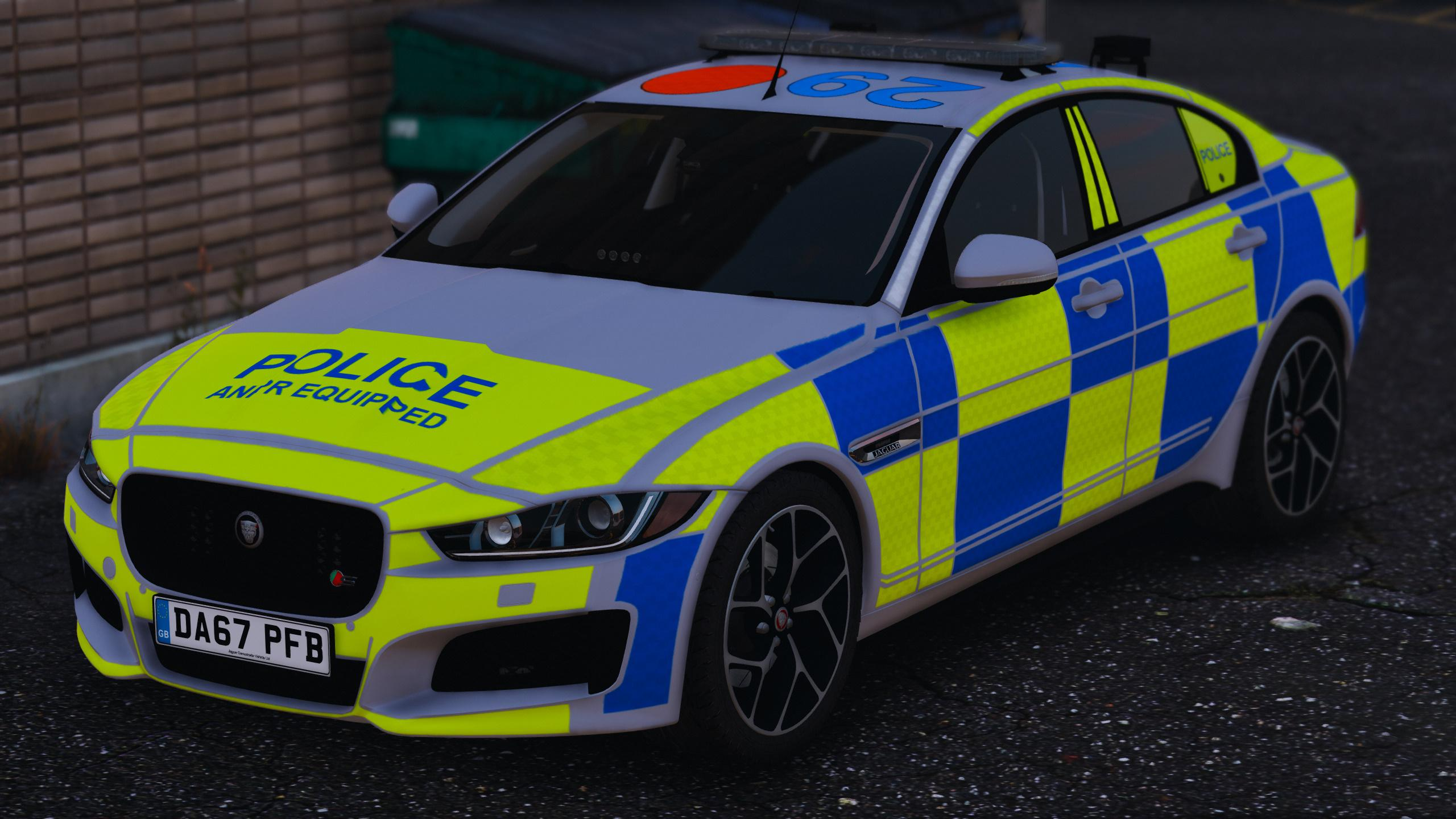 2017 police jaguar xe s gta5. Black Bedroom Furniture Sets. Home Design Ideas