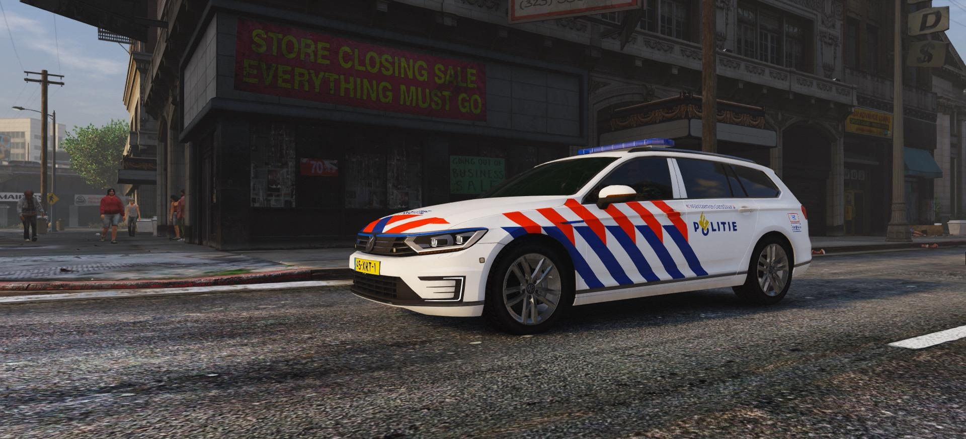 2017 politie volkswagen passat gte estate els skin gta5. Black Bedroom Furniture Sets. Home Design Ideas
