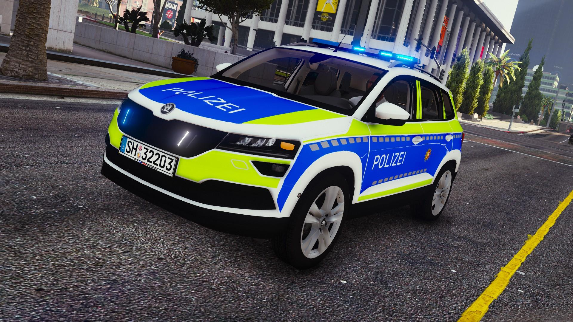 2017 skoda karoq polizei sh gta5. Black Bedroom Furniture Sets. Home Design Ideas