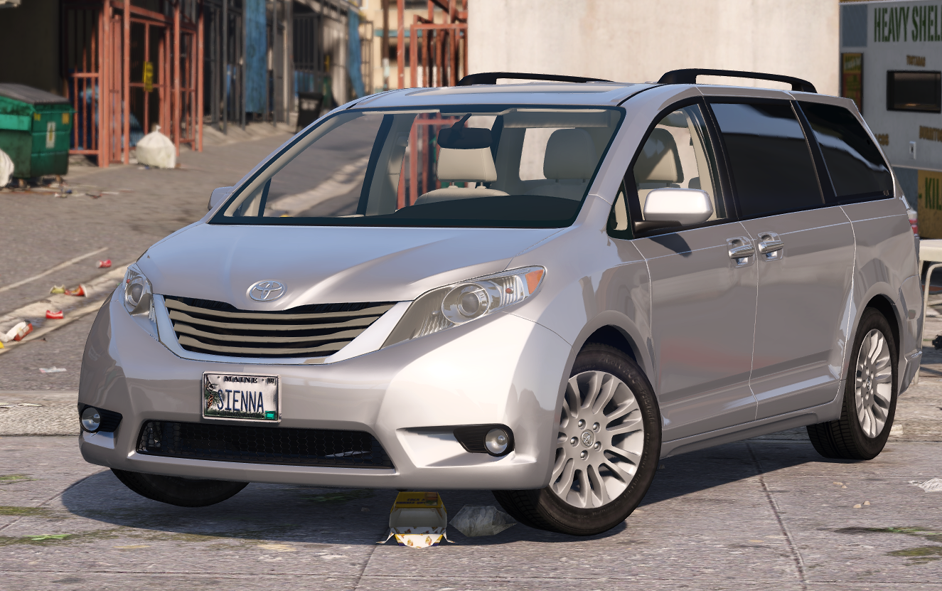 2017 toyota sienna xle premium 1 0 replace add on gta5. Black Bedroom Furniture Sets. Home Design Ideas
