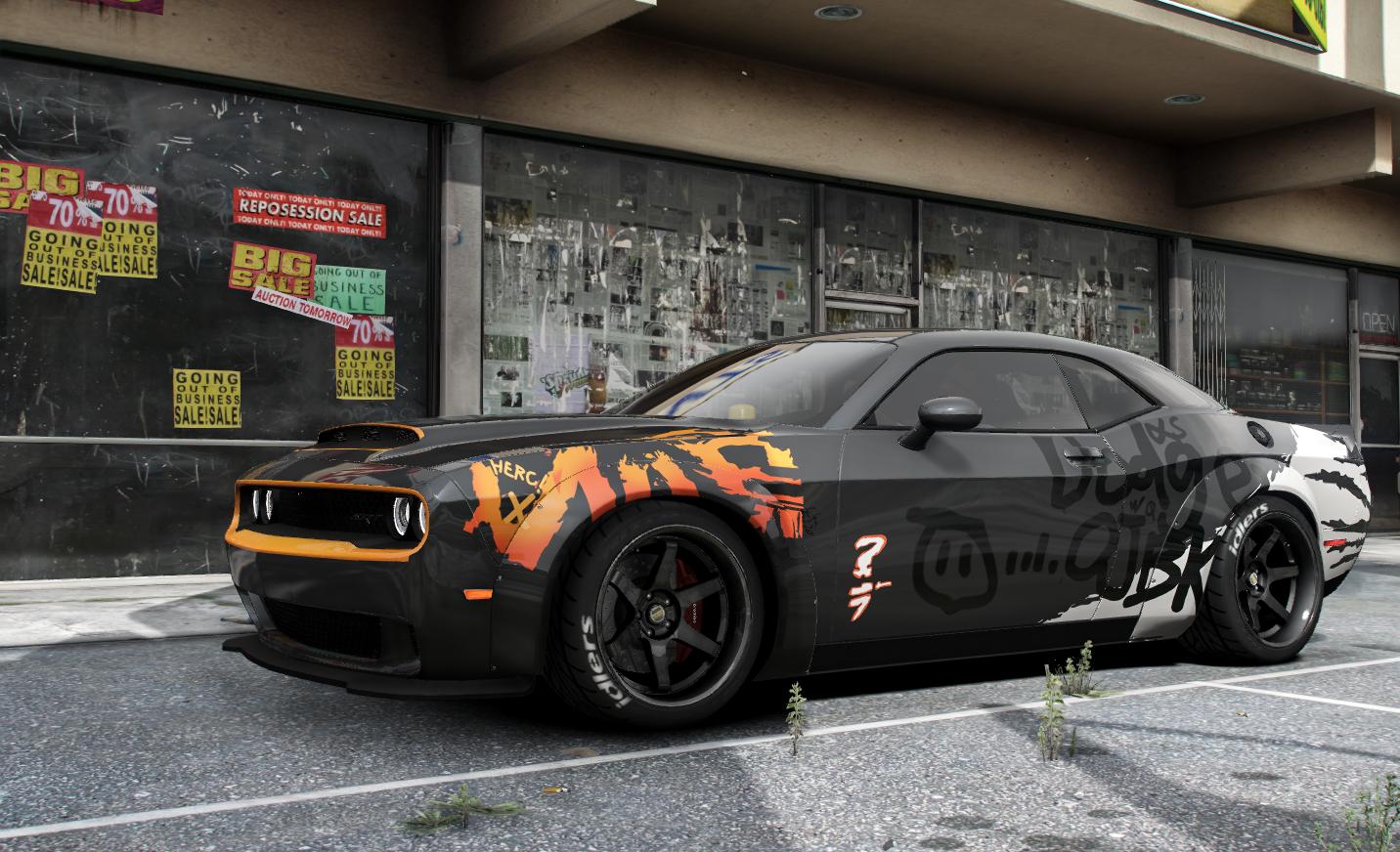 """Paintjob for 2018 Dodge Challenger SRT Demon """"OJBK"""" - GTA5 ..."""
