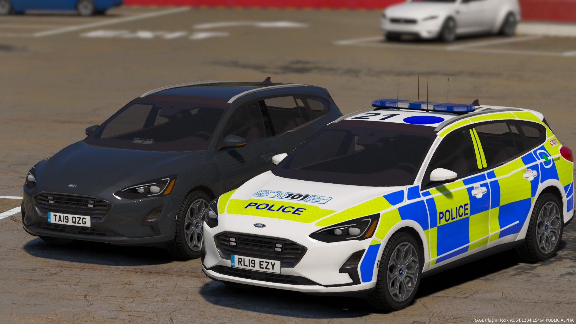 police 2019 ford focus wagon marked   unmarked