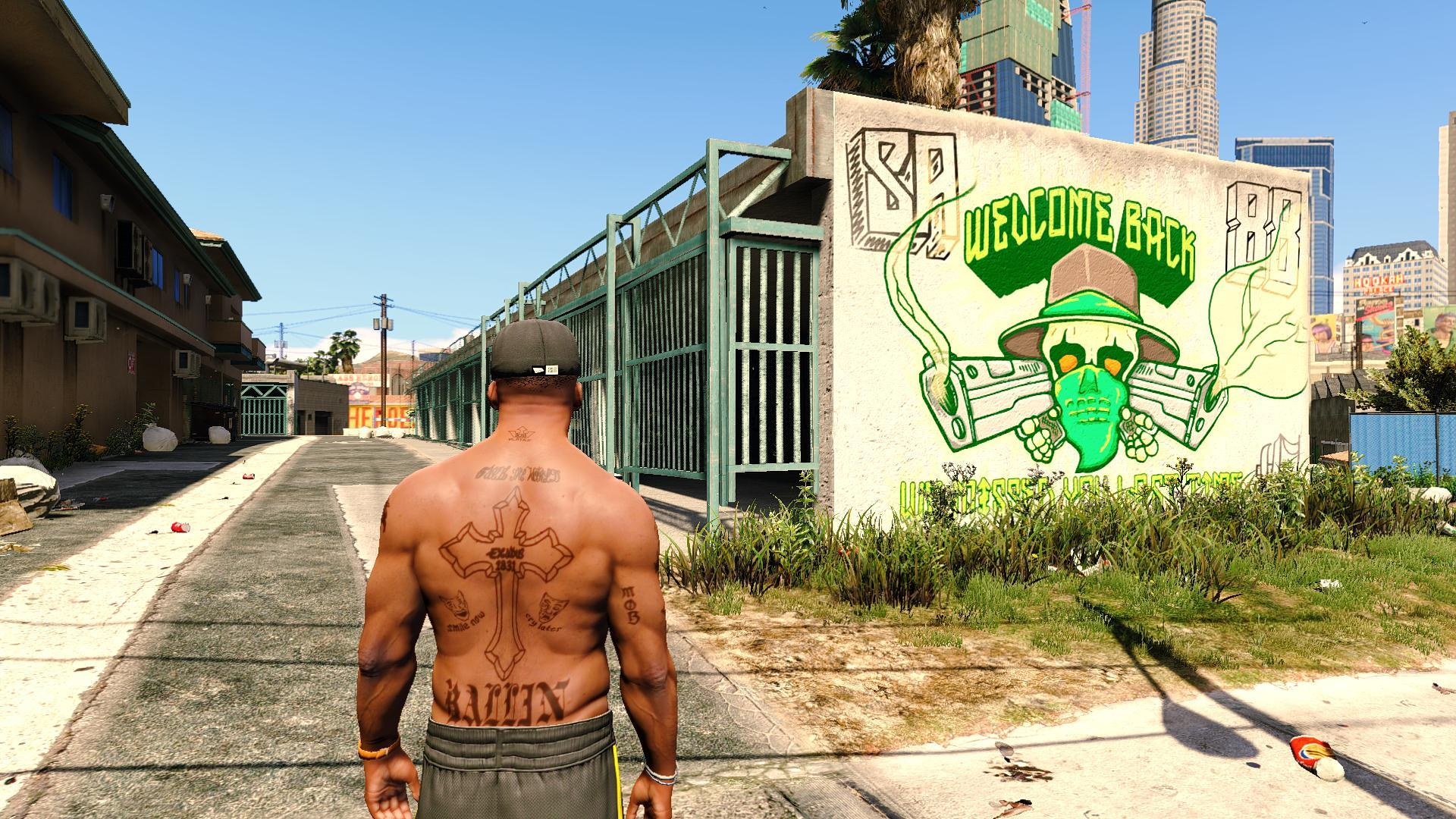 2pac S Tattoos For Franklin Gta5 Mods Com