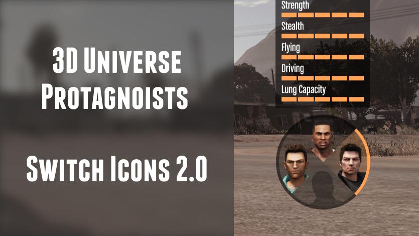 3D Universe Player Switch Icons [Claude, Tommy & CJ] - GTA5-Mods com