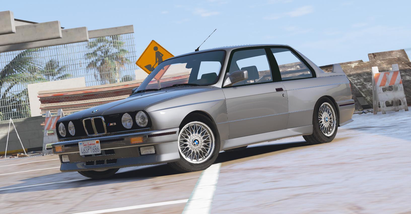 1991 Bmw E30 M3 Add On Replace Template Gta5 Mods Com