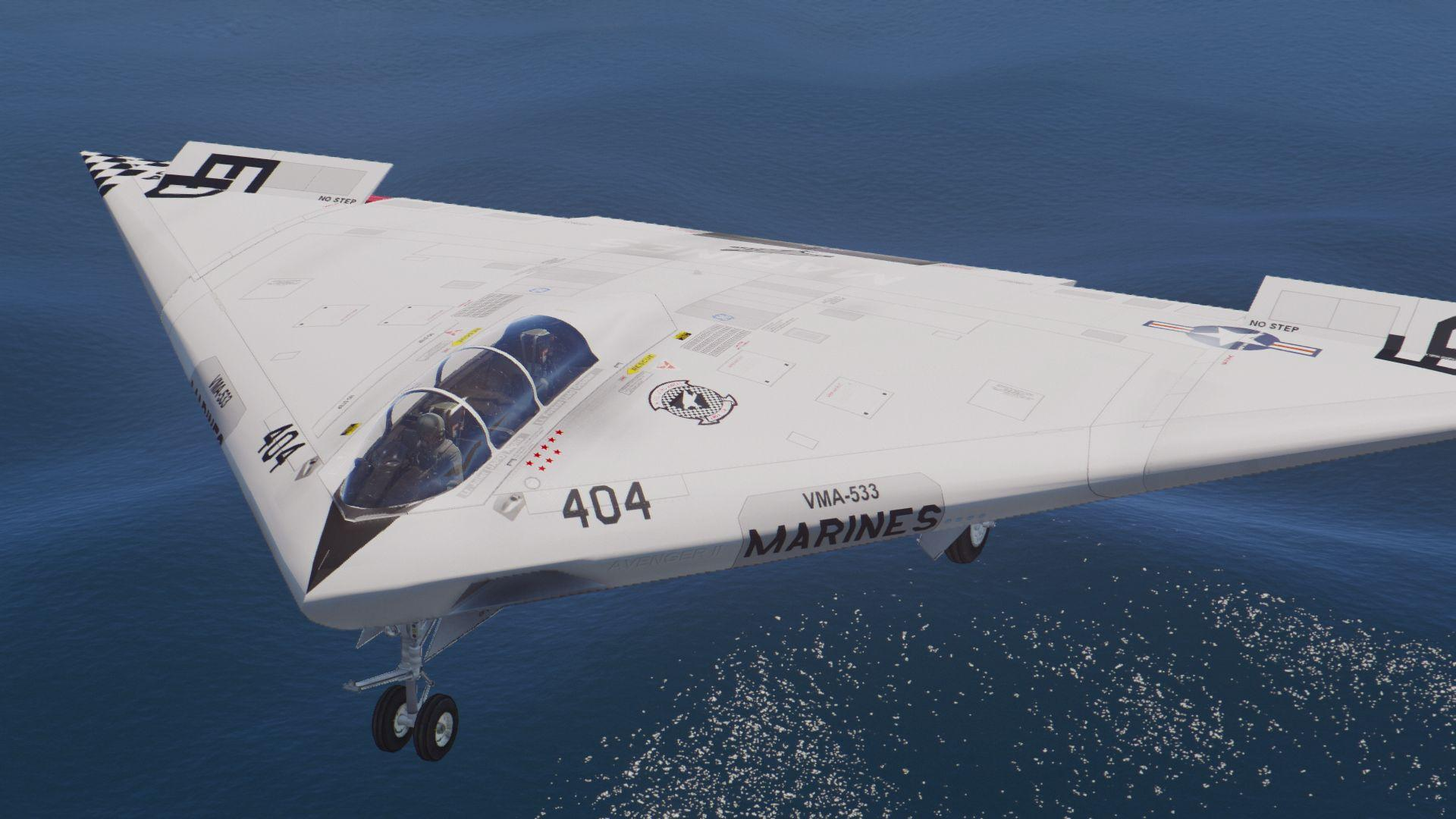 A-12a Avenger Ii Navy Stealth Bomber  Add-on