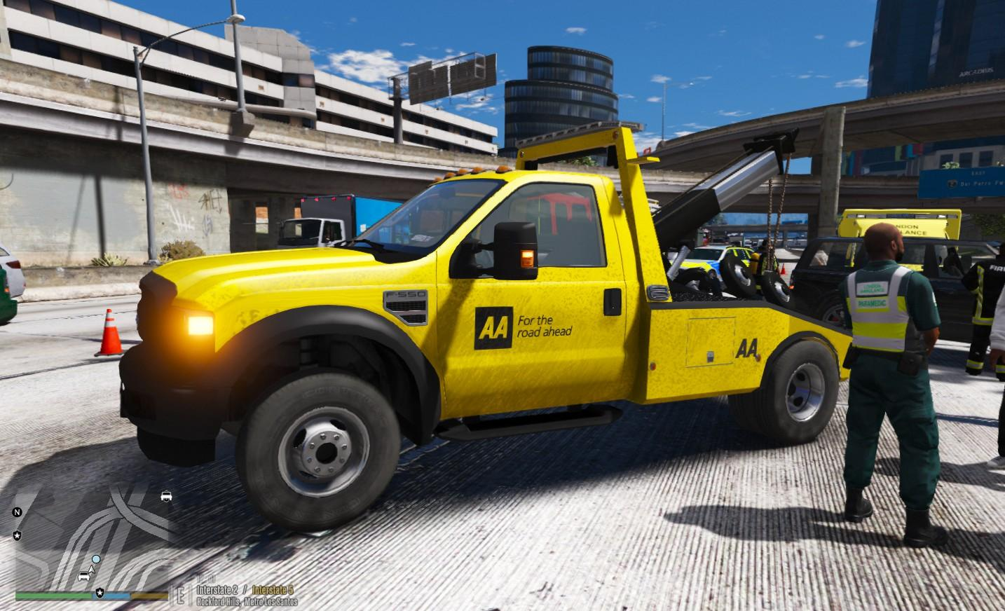 aa ford f550 towtruck gta5. Black Bedroom Furniture Sets. Home Design Ideas