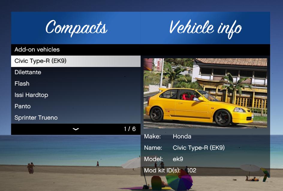 Add-On Vehicle Spawner - GTA5-Mods com