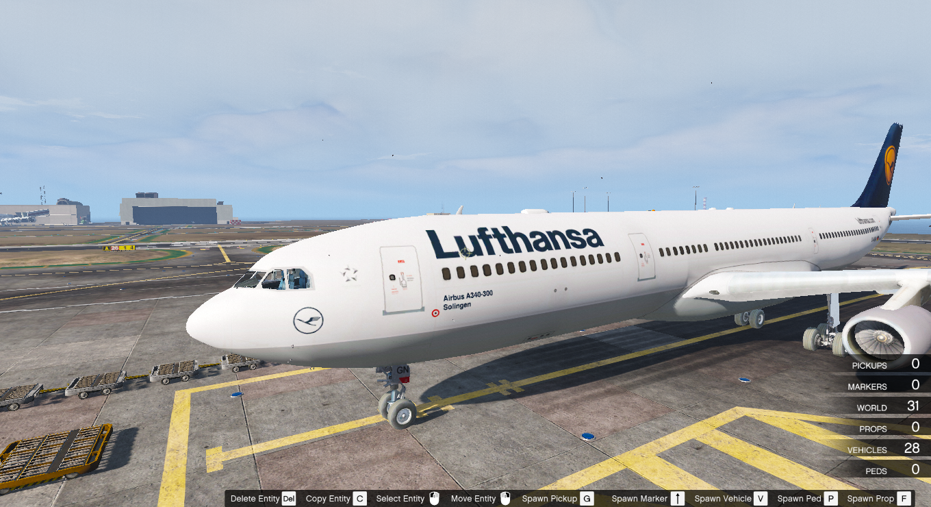 Airbus A340 300 Livery Pack 1 Lufthansa Virgin Atlantic