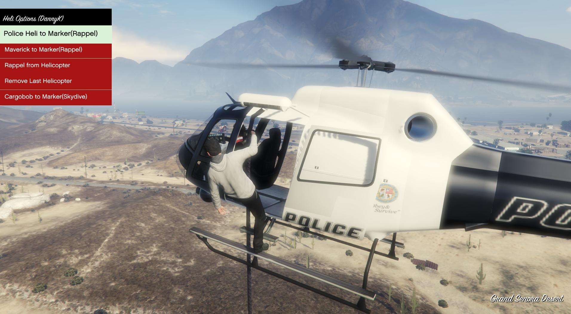 Elicottero Gta 5 : Airtaxi helicopter rappel mod gta mods