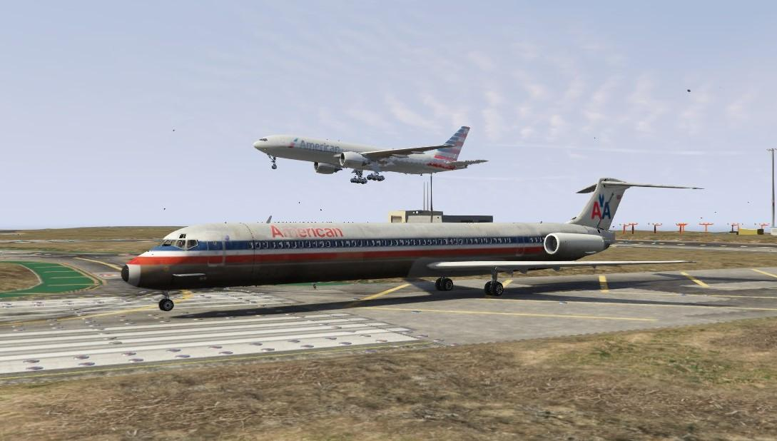 American Airlines Livery For Md 83 Gta5 Mods Com