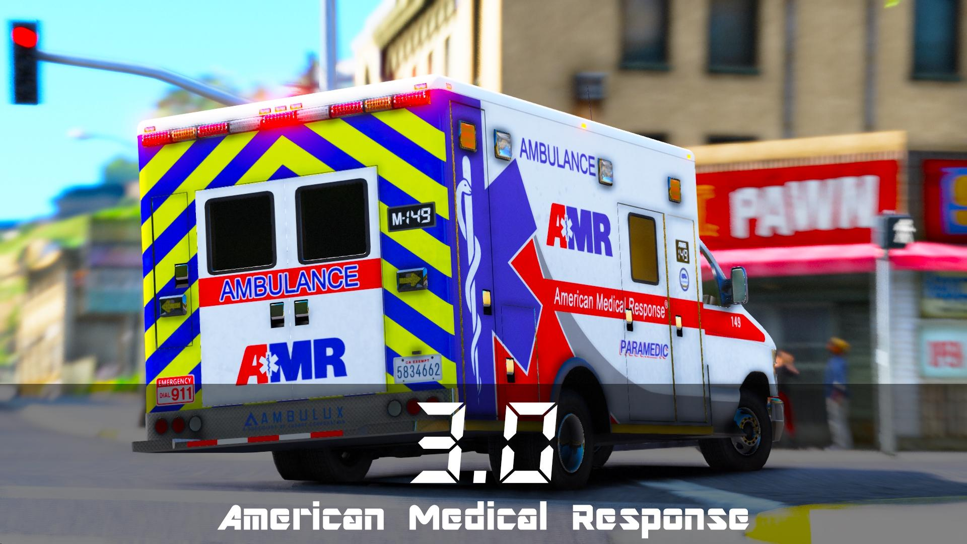 American Medical Response Amr Ambulance Skin Pack Gta5