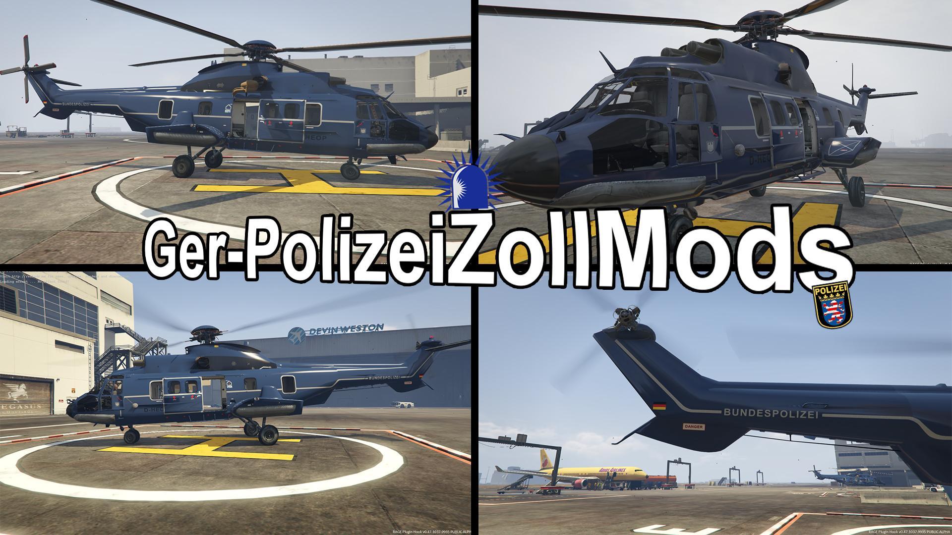 AS-332 | Bundespolizei Helikopter - GTA5-Mods.com