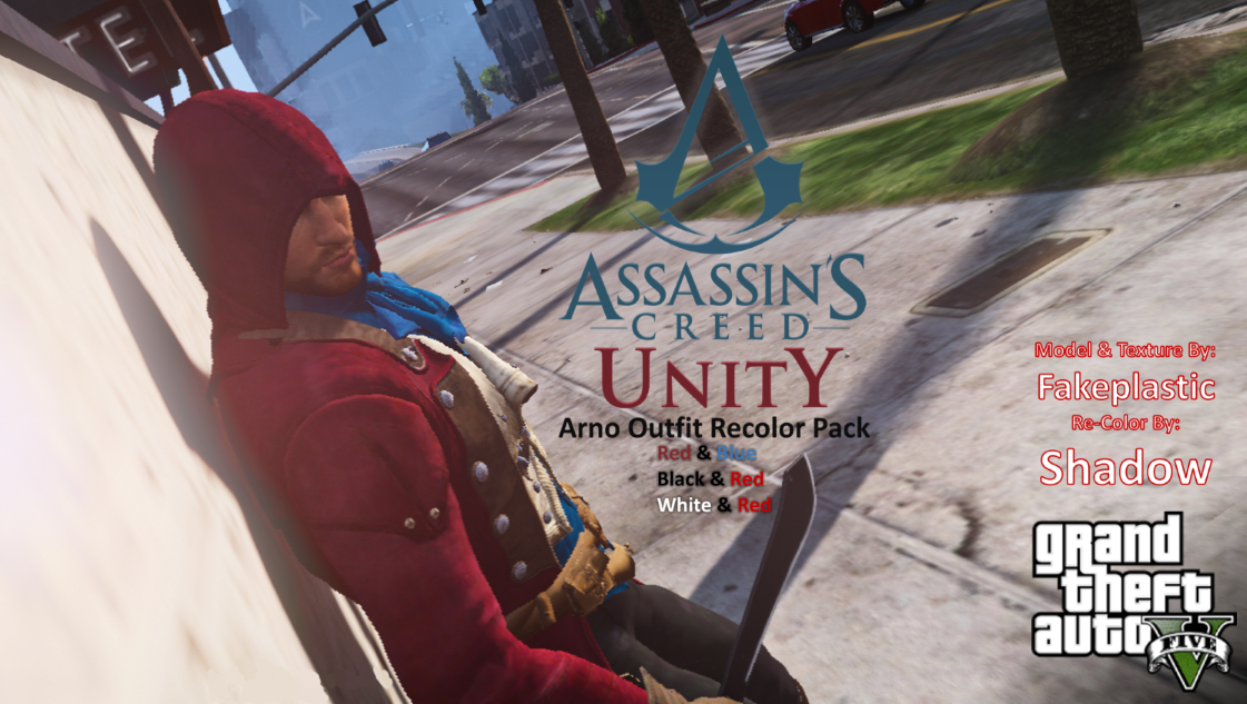 Assassin's Creed Unity Arno Outfit Recolor Pack - GTA5-Mods com