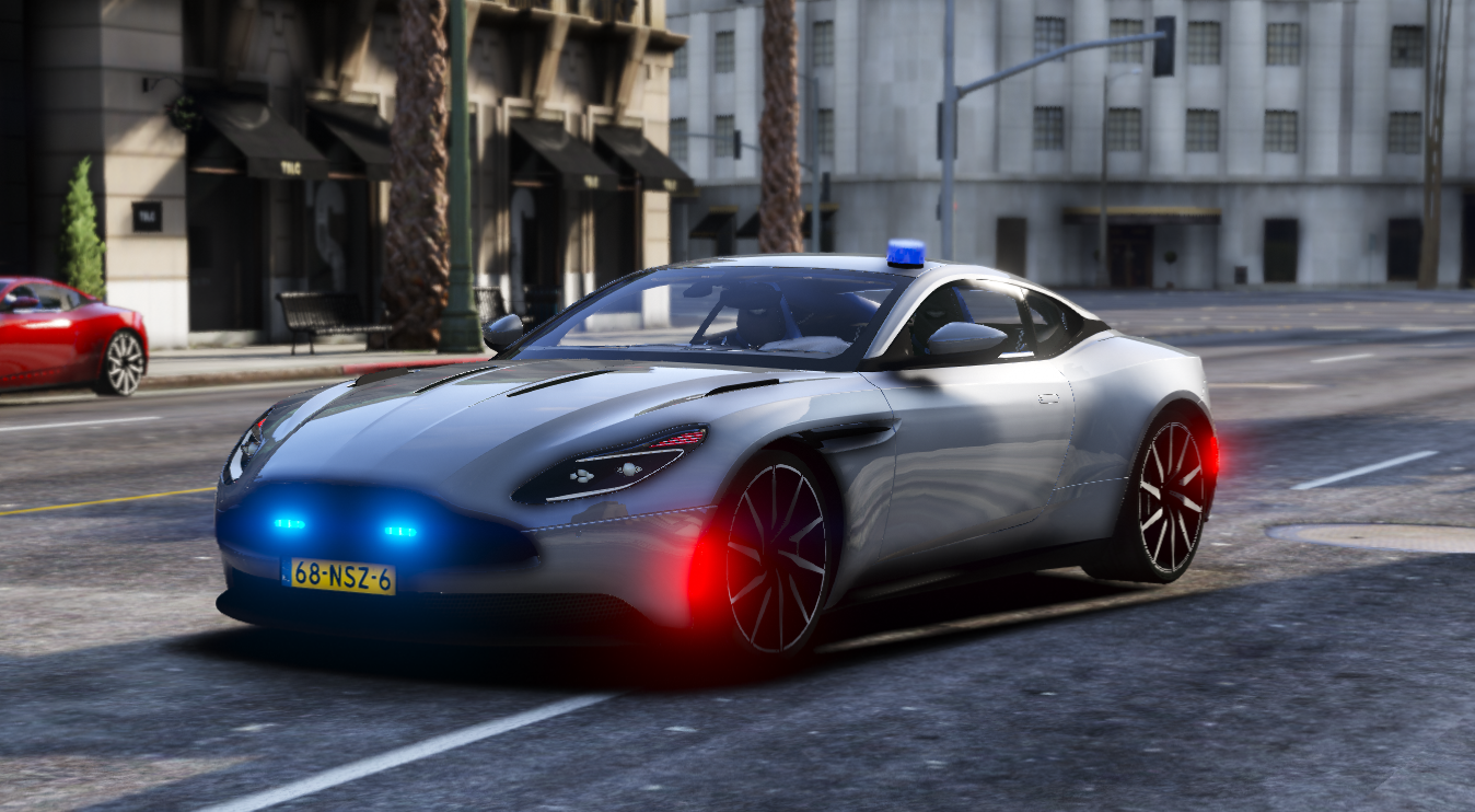 aston martin db11 police / politie unmarked [els | replace] - gta5