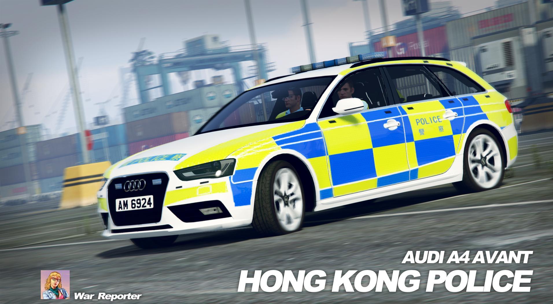 Audi A4 Avant Hong Kong Police Skin Gta5 Mods Com