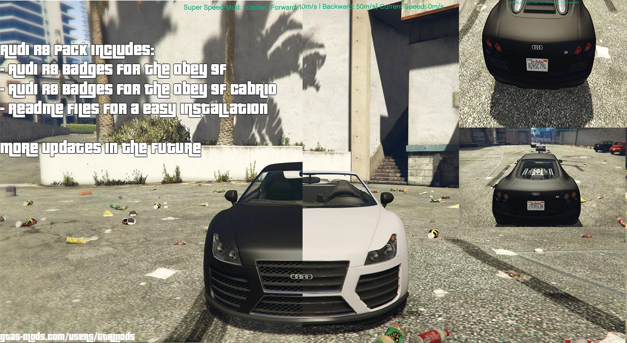 Audi R8 Pack for Obey 9F - GTA5-Mods.com