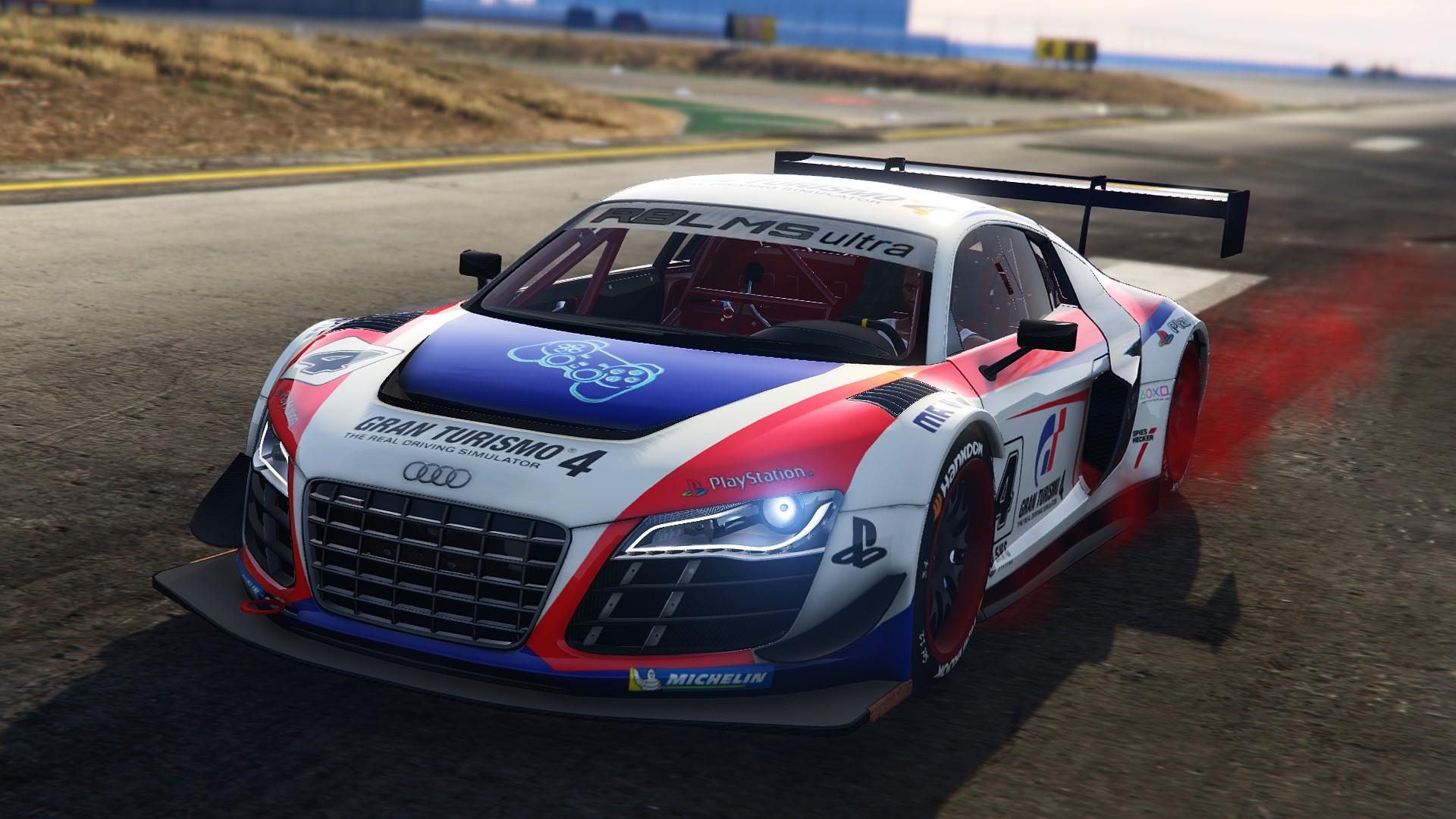 audi r8 lms ultra racecar add on gta5. Black Bedroom Furniture Sets. Home Design Ideas